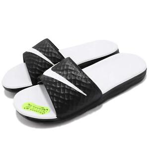d0cc4fd8d Image is loading Wmns-Nike-Benassi-Solarsoft-White-Black-Womens-Slippers-