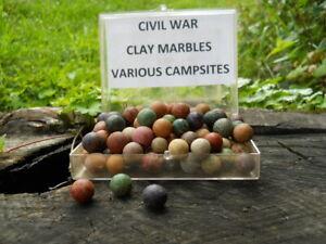 Old Rare Vintage Antique Civil War Relic Confederate Marble Dug Various Camps