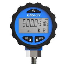 Elitech Pg 30pro Blue Refrigeration Hvac Digital Pressure Gauge 87 Refrigerants