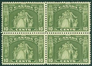 EDW1949SELL : CANADA 1934 Scott #209 Block of 4. Very Fine Mint NH Catalog $210+