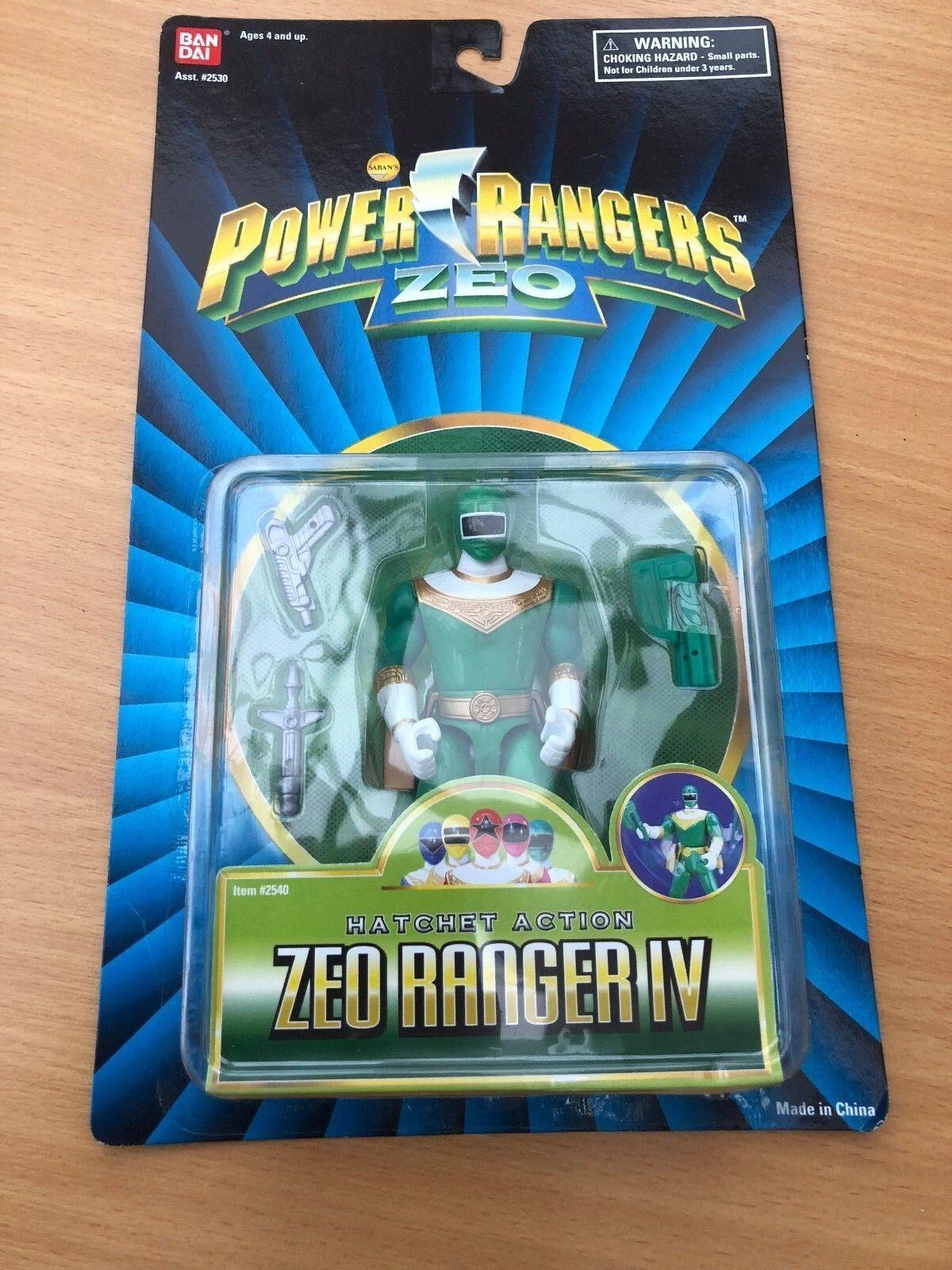 Power rangers mächtige morphin zeo grüne ranger - neue versiegelten blisterpackung vintage - spielzeug