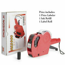 Mx5500 Eos 8 Digits Price Tag Gun Labeler Labeller With Label Amp Ink Roller