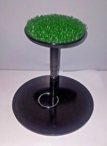 New-Falconry-Stainless-Steel-Block-Perch-6-034-Indoor-And-Outdoor-with-AstroTurf