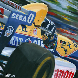 Litho-1993-Williams-Renault-FW15C-0-Damon-Hill-GBR-by-Toon-Nagtegaal-OE