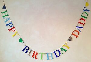 HAPPY BIRTHDAY DADDY PARTY BANNER BUNTING DECORATION | eBay