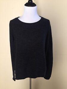 NWOT-Ann-Taylor-Loft-Dark-Gray-Pullover-Sweater-Size-S