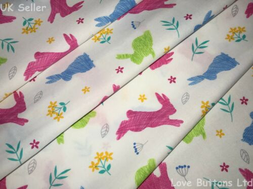 ROSE AND HUBBLE BUNNY RABBIT FABRIC 100/% COTTON 112CM WIDE SOLD PER HALF METRE