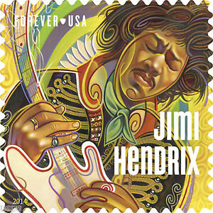 Image Is Loading USPS New Jimi Hendrix Forever Stamp Sheet Of