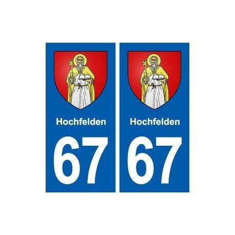 67 Holtzheim blason autocollant plaque stickers ville droits