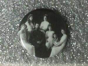 Pin-Back-Button-RUSSIA-FAMILY-ROMANOV-TSAR-NIKOLAI-II-Original-ib1