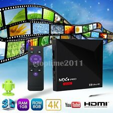 MX9 Pro RK3328 Quad Core 1G+8GB Android 7.1 Smart TV Box 4K WiFi Media Player