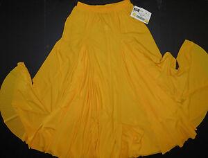 NWT-FLAMENCO-LATIN-SKIRT-DOUBLE-GODET-Praisewear-Flag-Gold-Girls-medium-80375