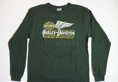 Harley-Davidson T-Shirt Biker Long Sleeves Men Woman Tel Aviv Israel Green