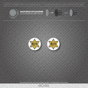 R.O 6046 Decals Harrison Bicycle Handlebar Bar End Plug Stickers
