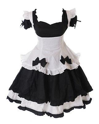 JL-669-2 Love Nikki schwarz Maid Zofe Gothic Lolita Kleid Cosplay Kostüm Set