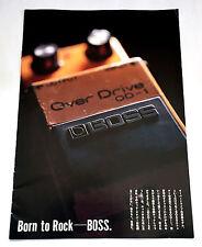 BOSS GUITAR & BASS EFFECTS CATALOGUE BOOK JAPAN 1991 Roland Over Drive Chorus