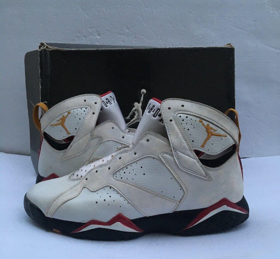 Jordan 7 Cardinal blancoo Air Bronce cardenal Negro 10.5 2007 304775 -101