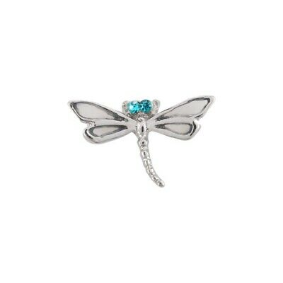 Authentic Origami Owl Silver Dragonfly Charm