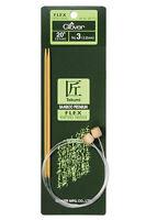 Clover Bamboo 20 Flex Knitting Needles; Choose Size