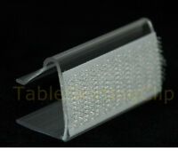 100 Table Skirting Clips | For Table Edges 3/4 Thick | 2 Long Table Skirt Clip