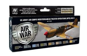 VALLEJO-AIR-WAR-COLOR-SET-WWII-U-S-ARMY-AIR-CORPS-COD-AV71183