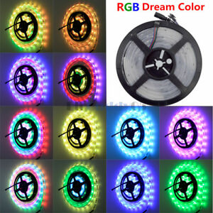 5M-16ft-RGB-Dream-Color-Waterproof-IP67-LED-Strip-Light-SMD-5050-6803-IC-150LED