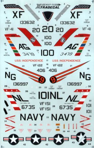 Xtradecal X72027 1:72 McDonnell F-3B//H DEMON 4 marquages Options