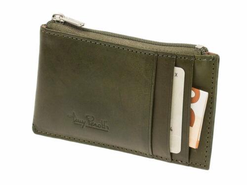 Kreditkartenetui Reißverschluss-Geldfach Tony Perotti Vegetale RFID Borneo Grün