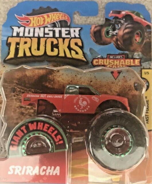 Hot Wheels Toy Car - Monster Trucks - Fast Foodie 1/5 - SRIRACHA - Metal
