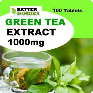 Estratto-di-te-verde-ad-alta-resistenza-1000mg-perdita-di-peso-Dieta-Slimming-Pacco-Da-100