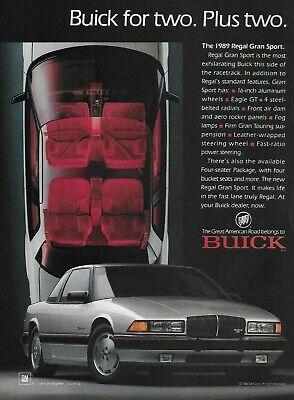 1989 buick regal gran sport silver red car auto original color photo print ad ebay ebay