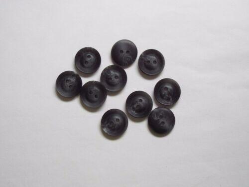 10pc 12mm Gris carbón falsa cuerno Traje Camisa Cardigan De Punto Botón 4489