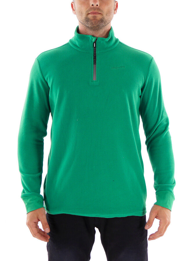 Brunotti Fleece Upper Part Functional Sweater Tenno Green Half-Zip Insulating   free delivery