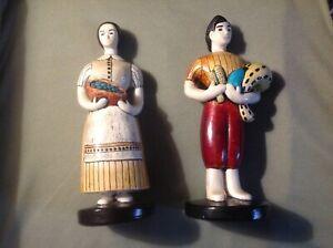 Old Vintage Sylvia Hood Original Pasadena California Chalkware Migrants Harvest