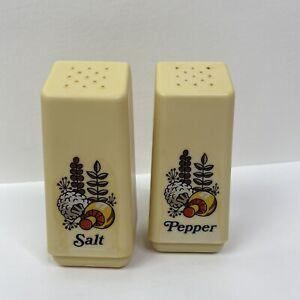 Vintage Rubbermaid Mushroom Herb Design Salt Pepper Shaker Set 4 5 Ebay