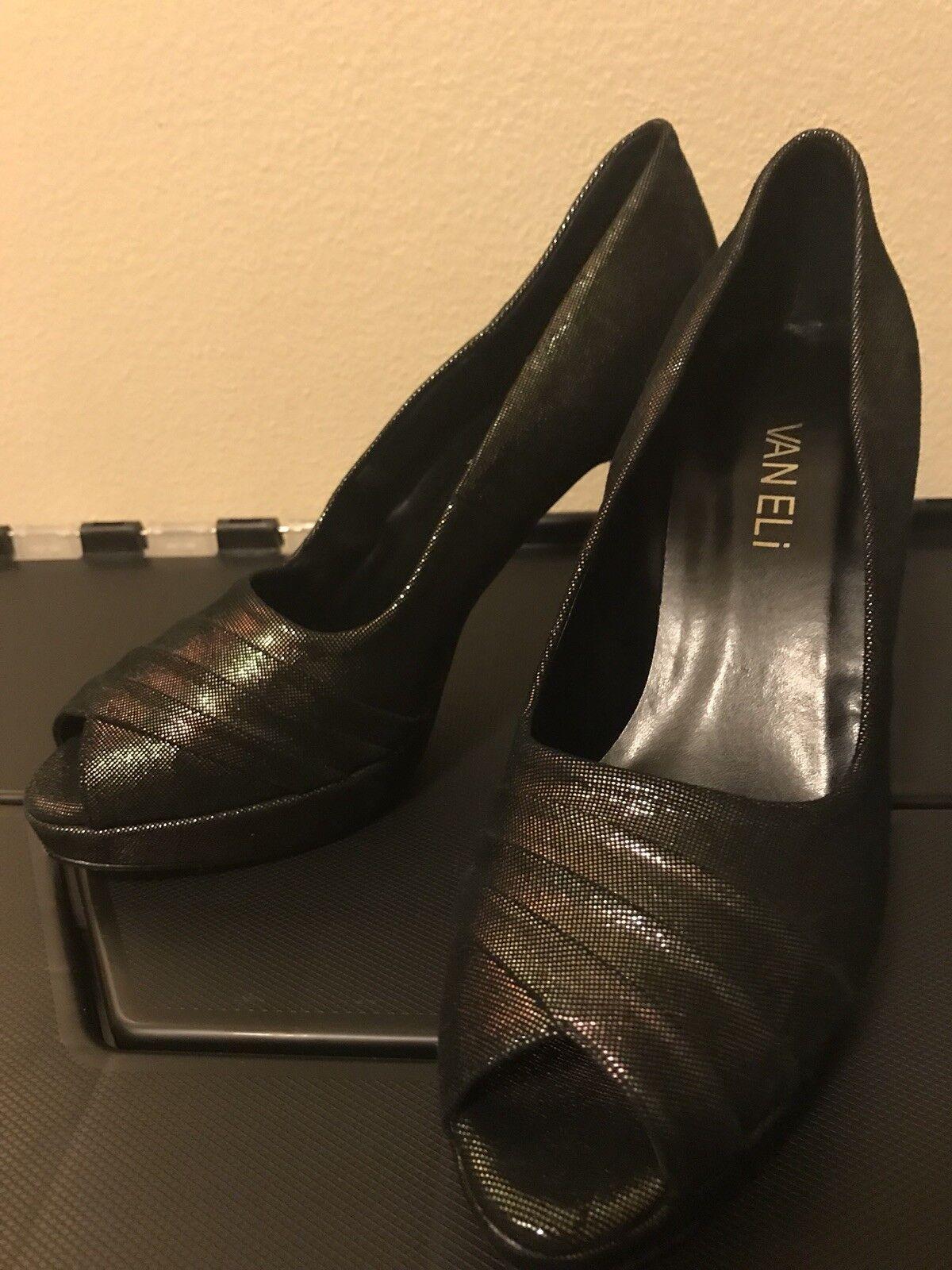 miglior prezzo Nordstrom Made In  Vaneli Brand Brand Brand Name Leather Peep Toe Pumps Heels scarpe 6M  prezzo ragionevole