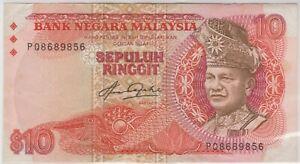 Mazuma *M1211 Malaysia 5th $10 PQ8689856 Last Prefix GEF