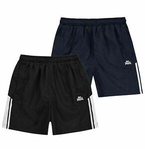 Garcons-Lonsdale-2-stripe-elegant-Decontracte-Classique-Tisse-Shorts-Tailles-7-To-13