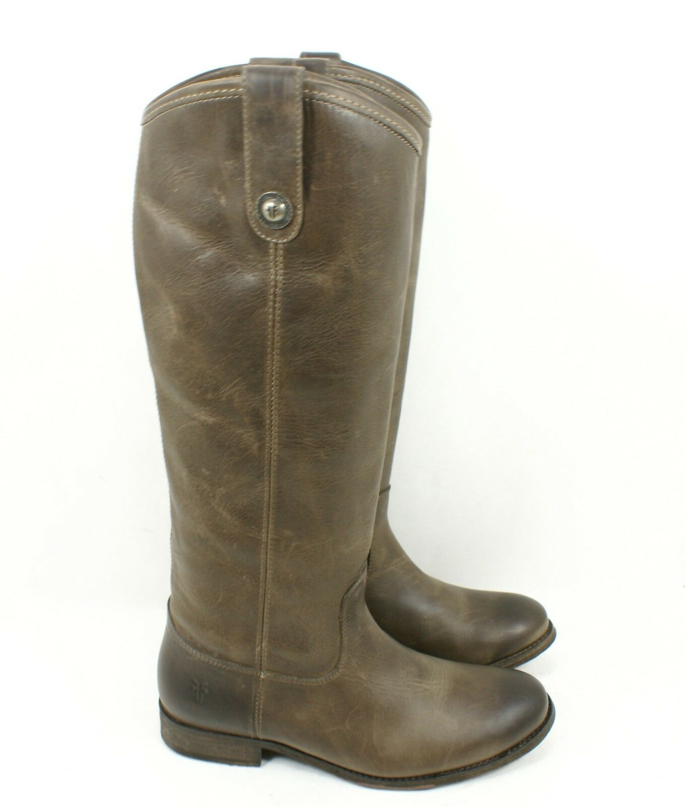 Frye Sz 6.5 B  'Melissa Button' Riding Boot Boot Boot Slate Brown Knee High Leather  370 A 9c5a79