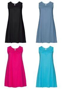 Sheego-Damen-Shirtkleid-Kleid-Dress-fuchsia-tuerkis-blau-schwarz-black-blue-NEU