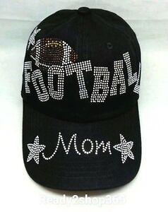 BASEBALL MOM BLACK RHINESTONE COVERED BASEBALL CAP