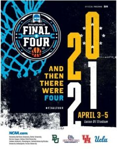 2021 MEN'S FINAL FOUR GAME PROGRAM HOUSTON BAYLOR GONZAGA UCLA NCAA COLLEGE