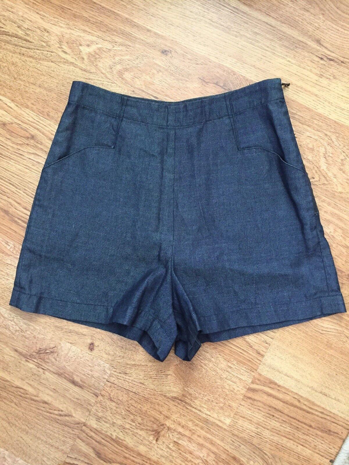 L'Agence NEW  100% Excel Dark Denim High Rise Short Shorts Sz 2 NWOT