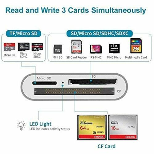 Aluminum 3-Slot 3.0 Type-C Flash Memory For Device USB C Card Reader Supports