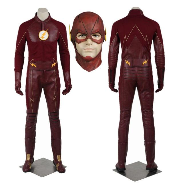 The Flash Cosplay Costume Superhero Barry Allen Zentai Bodysuit Suit Jumpsuits