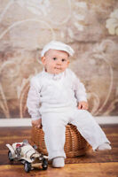Baby Boy White Christening Baptism Wedding Smart Suit Outfit 0 3 6 9 12 18m