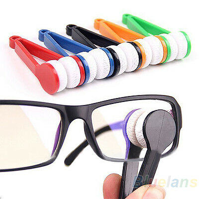 Good Mini Portable Glasses Eyeglass Sunglasses Microfiber Cleaner Brush B57U