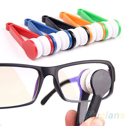 Trendy Mini Glasses Eyeglass Sunglasses Spectacles Microfiber Cleaner Brush Modi