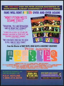 MEET-THE-FEEBLES-Orig-1995-Trade-print-AD-promo-PETER-JACKSON-cult-classic