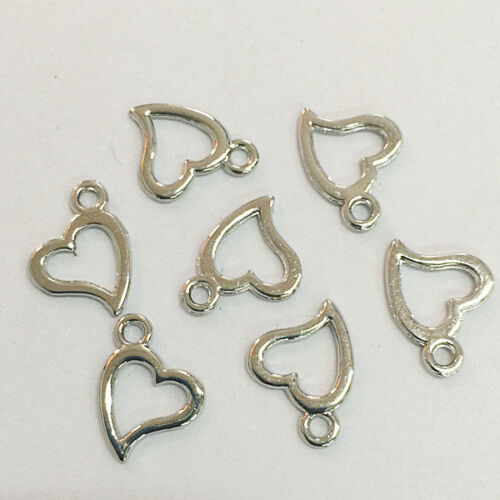 70pcs White K Color Heart Shaped Frame Charms H0260 | eBay